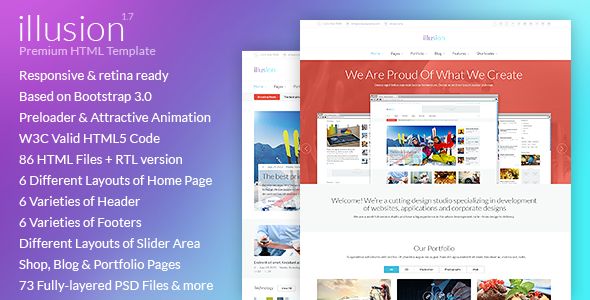 illusion v1.7 — Premium Multipurpose HTML Template