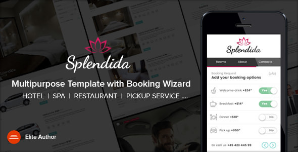 SPLENDIDA v1.3 — Multipurpose template with Booking Wizard