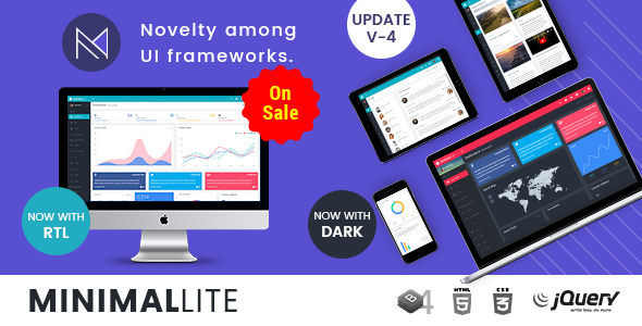 Minimal Lite — Responsive Bootstrap 4 Admin, Dashboard & WebApp Templates