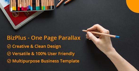 Bizplus — One Page Parallax