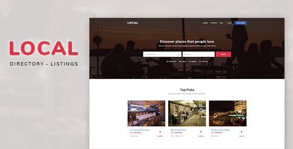 Local — Directory Listings PSD Template