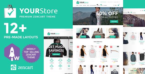 YourStore — Premium Zencart Theme