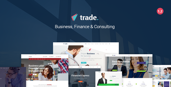 Trade v1.2 — Business and Finance WordPress Theme