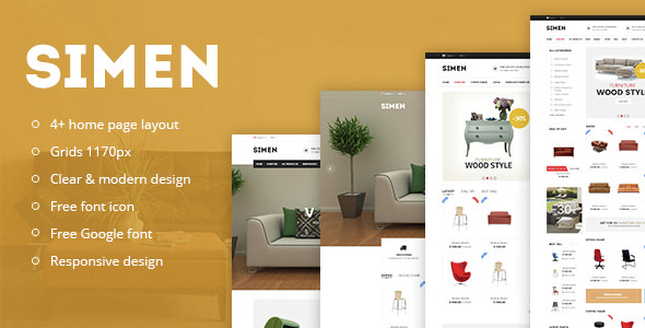Simen — Responsive eCommerce Bootstrap Template