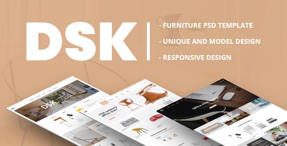 DSK — Furniture PSD Template