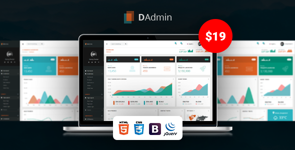 DAdmin — Responsive Bootstrap Admin Dashboard