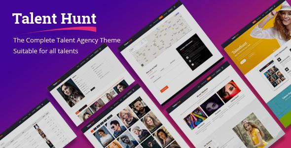 Talent Hunt v1.0.7 — Theme for Model Talent Management Services