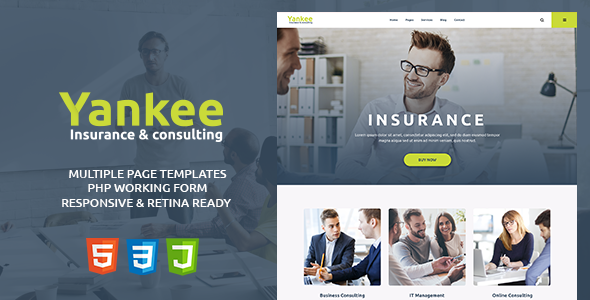 Yankee v1.1 — Insurance & Consulting HTML Template