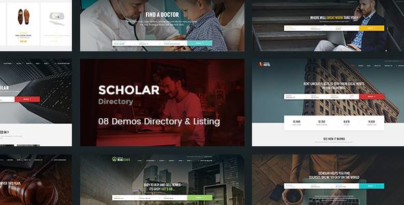 Scholar — Directory Multipurpose PSD Template