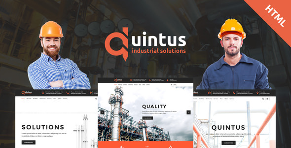 Quintus v1.1 — Industry / Factory / Engineering HTML5 Template