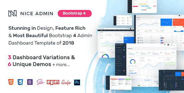 Nice Admin — Bootstrap 4 Dashboard Template
