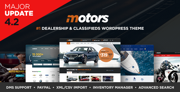 Motors v4.2.7 — Automotive, Cars, Vehicle, Boat Dealership