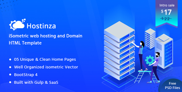 Hostinza — Isometric Web Hosting, Domain and WHMCS Html Hosting Template