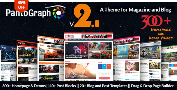 PantoGraph v2.5 — Newspaper Magazine Theme