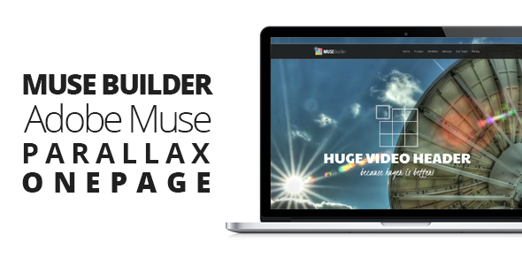 Muse Builder — Parallax OnePage Muse Template
