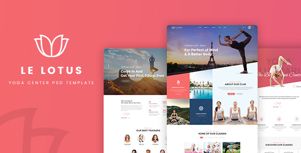 Le Lotus — Yoga Center PSD Template