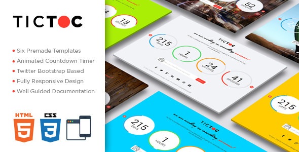 TICTOC v1.2 — Coming Soon Countdown Template