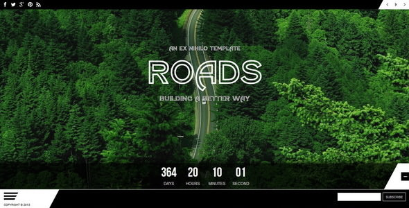 Roads — Responsive Coming Soon Page