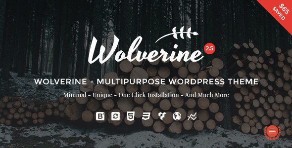 Wolverine v2.5 — Responsive Multi-Purpose Theme