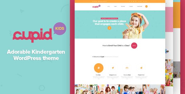 CUPID v1.3 — Adorable Kindergarten WordPress Theme