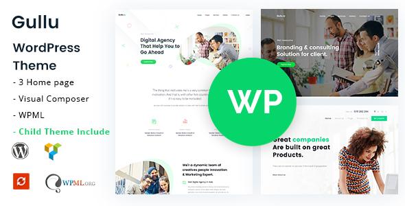 Gullu v1.9 — Creative Digital Agency & Multipurpose Theme