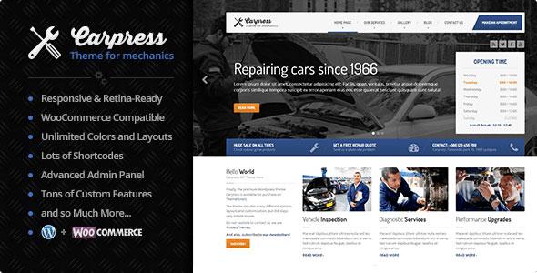 Carpress v1.11.7 — WordPress Theme For Mechanic Workshops