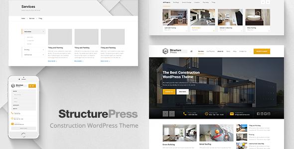 StructurePress v1.11.0 — Construction, Building WP Theme