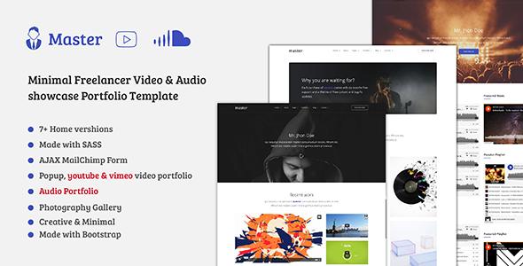 Master — Freelancer Video, Audio Portfolio HTML Template