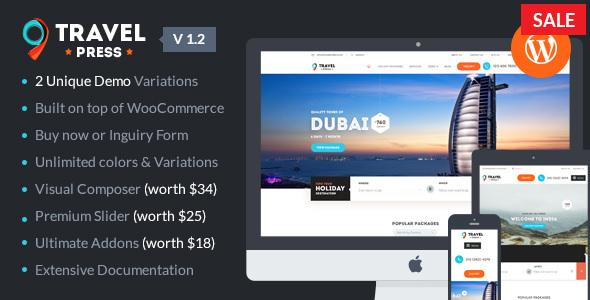 TravelPress v1.3.1 — Travel Agency WordPress Theme