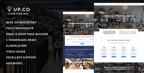 Up.Co — Creative Office Space & Business Drupal 8.5 Theme