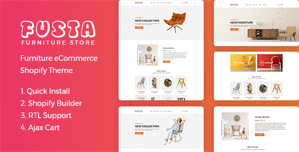 Fusta — Furniture Shopify Theme + RTL + Dropshipping