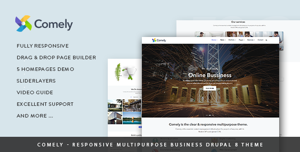 Comely — Responsive Multipurpose Business Drupal 8.6 Theme