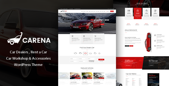 Carena v2.1- Car Dealer Rental and Automative Theme