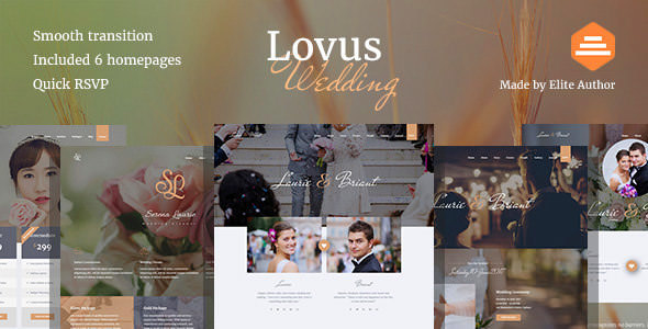 Lovus v1.0.4 — Wedding Planner WordPress Theme