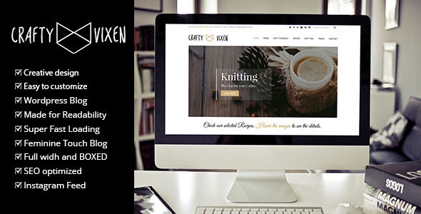 Vixen Blog v1.4 — Responsive DIY WordPress Blog