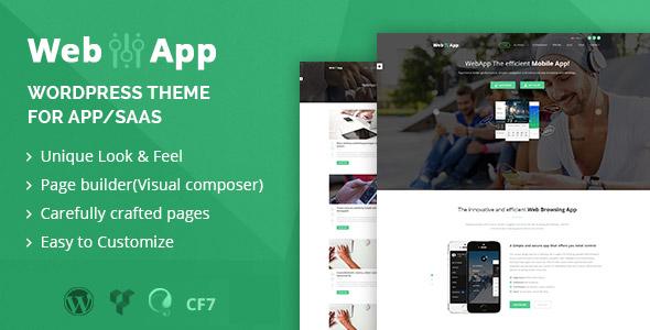 Webapp v1.2 — App — Saas WordPress Theme