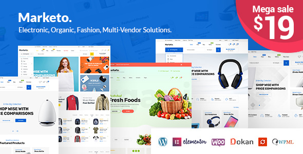 Marketo v1.2.0 — ECommerce & Multivendor Theme