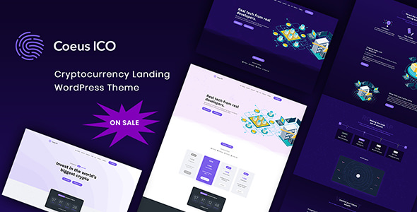 Coeus v1.1.1 — Cryptocurrency Landing Page Theme