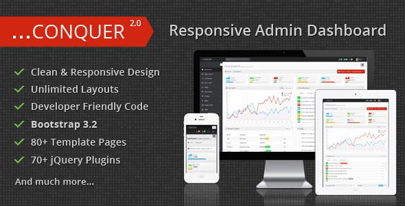 Conquer v2.0 — Responsive Admin Dashboard Template