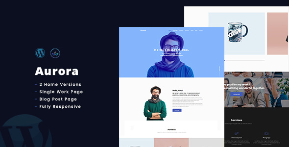 AuroraX v1.0 — Portfolio WordPress Theme