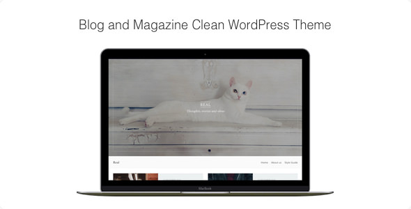Real v1.0.7 — Blog and Magazine Clean WordPress Theme