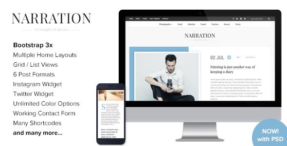 Narration v1.4 — A Responsive WordPress Blog Theme