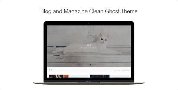 Real v1.1.9 — Blog and Magazine Clean Ghost Theme