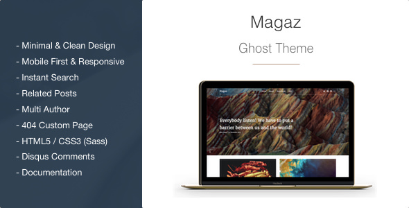 Magaz v1.2.2 — Magazine and Multipurpose Clean Ghost Theme