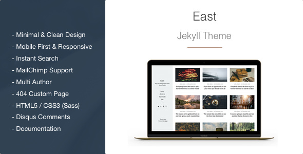 East v1.1.6 — Minimal and Clean Jekyll Blog Theme