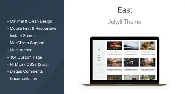 East v1.1.6 — Minimal and Clean Jekyll Blog Theme