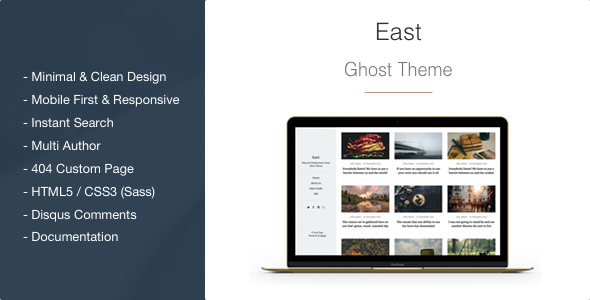 East v1.2.1 — Blog and Multipurpose Clean Ghost Theme
