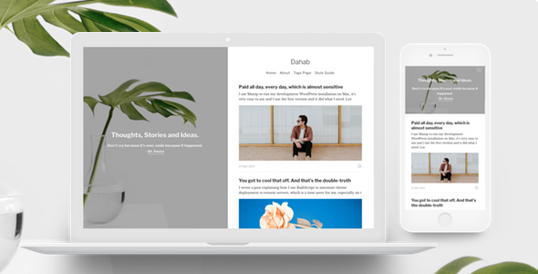 Dahab v1.0.4 — Minimal Blog and Magazine Ghost Theme