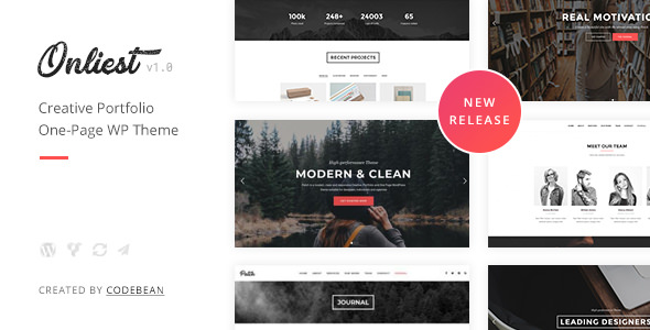 Onliest — Creative Portfolio One Page WP Theme