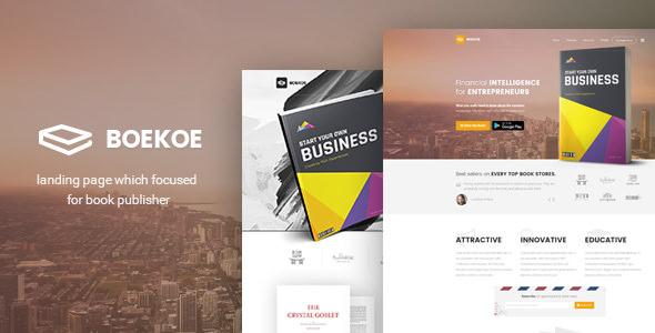 Boekoe — Book Landing Page